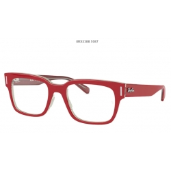 Ray Ban 0RX5388 5987 RED ON TRANSPARENT GREY